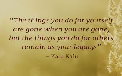 Your Lasting Legacy